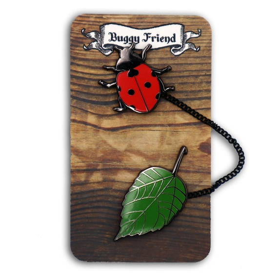 My pet bug! Cute lady bug pin set!