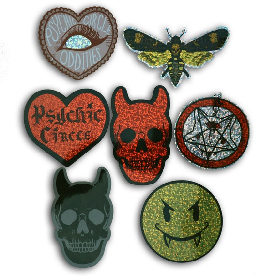 Devil hearts Glitter sticker pack