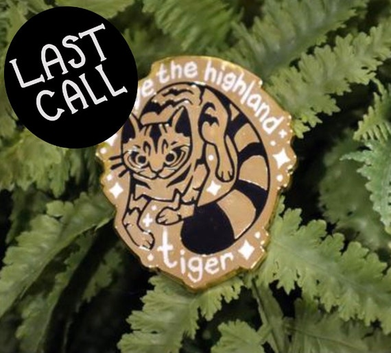 Scottish tiger charity pin!