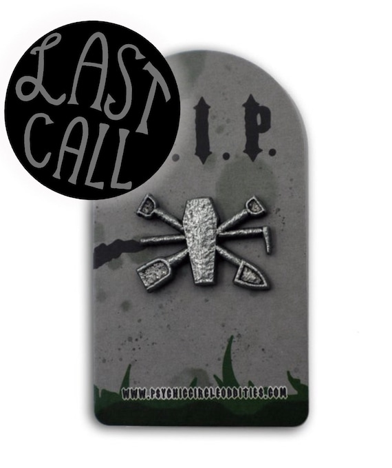 3D metal gravediggers crest pin! Limited edition!