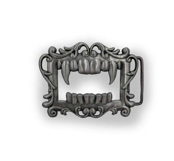 Vampire mimic - demonic unisex psychic circle oddities belt buckle!