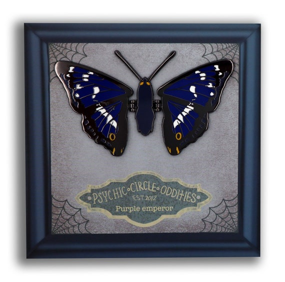 The purple emperor (corpse butterfly) moving wing enamel pin!