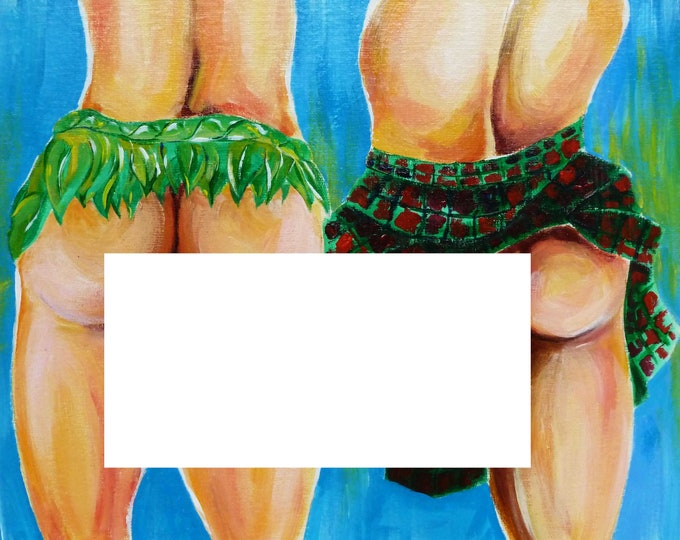 Original Artwork Oil Male Nude Erotic Painting Gay Interest