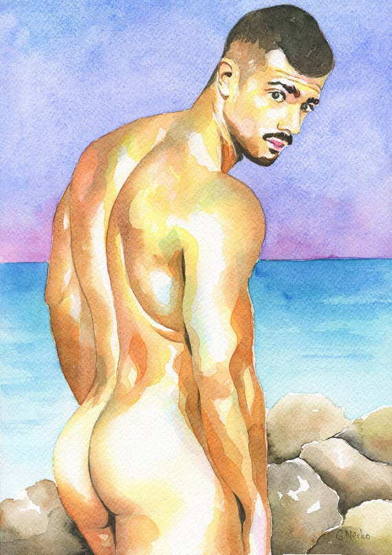 Male nude print