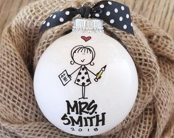Teacher Ornament, Personalized Teacher, Personalized Teacher Gift, Teacher Christmas Gift, Gift for Teacher, Personalized Teacher Ornament