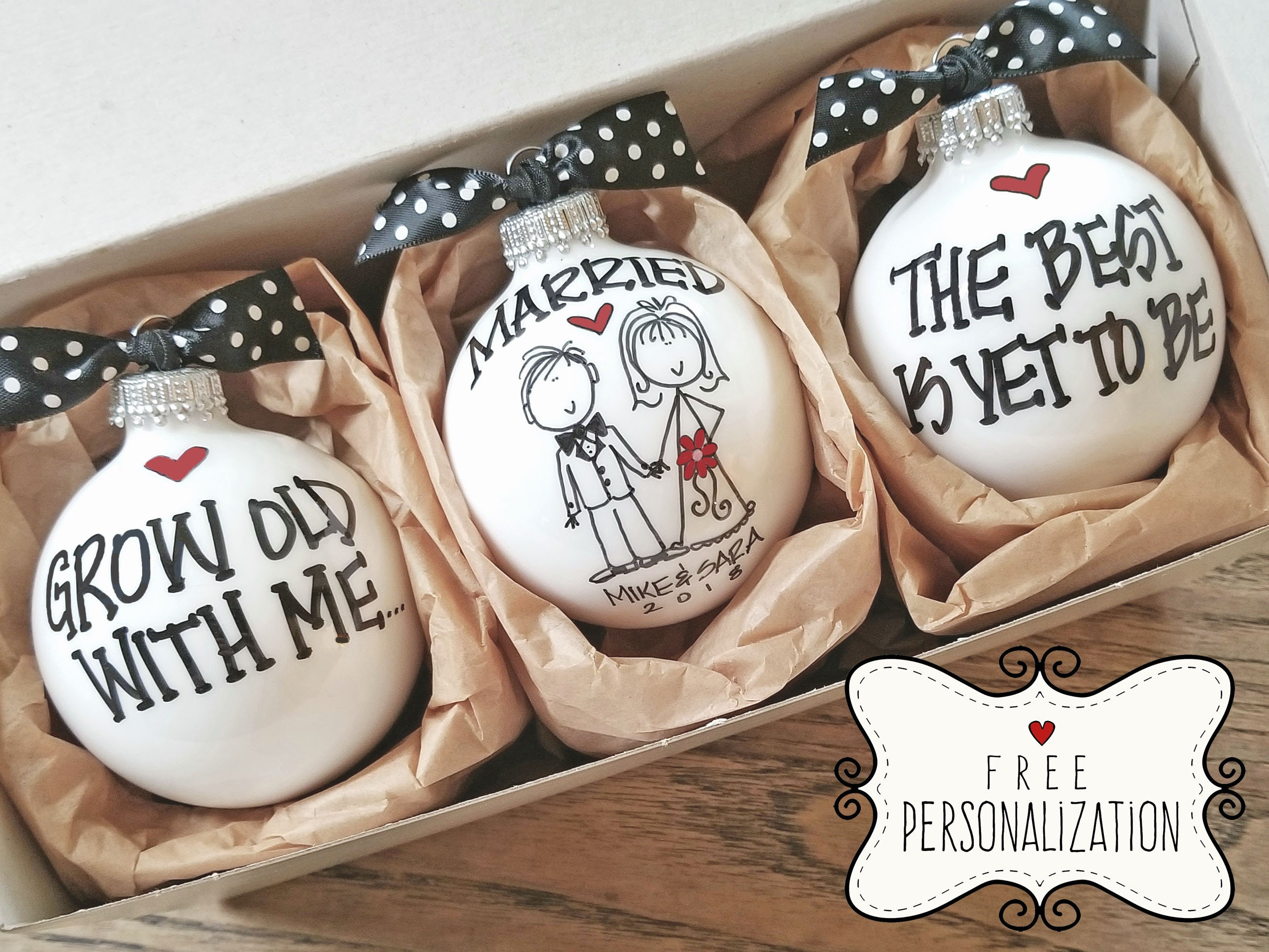 Wedding Gift Wedding Ornaments Wedding Gift Set Personalized