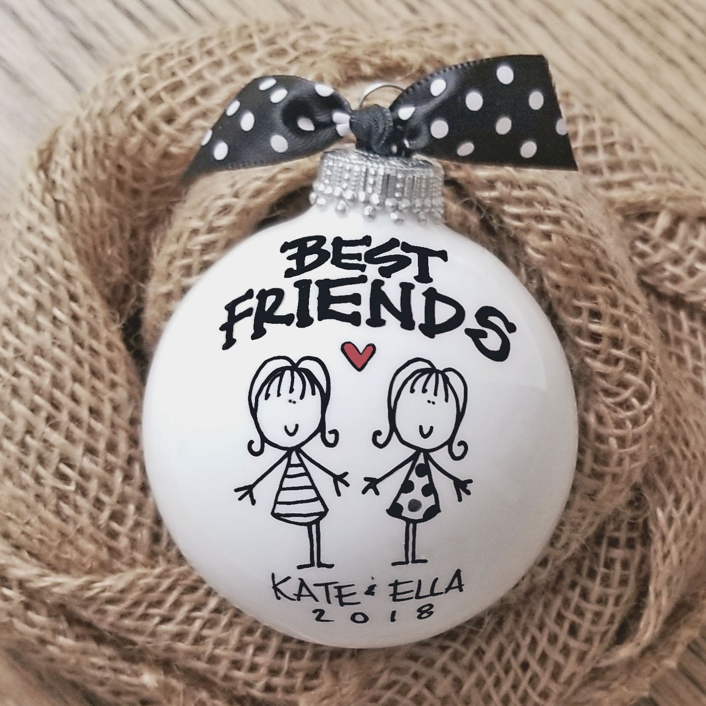 best friend ornament personalized friend ornament girlfriend gift personalized ornament bff ornament best friend christmas