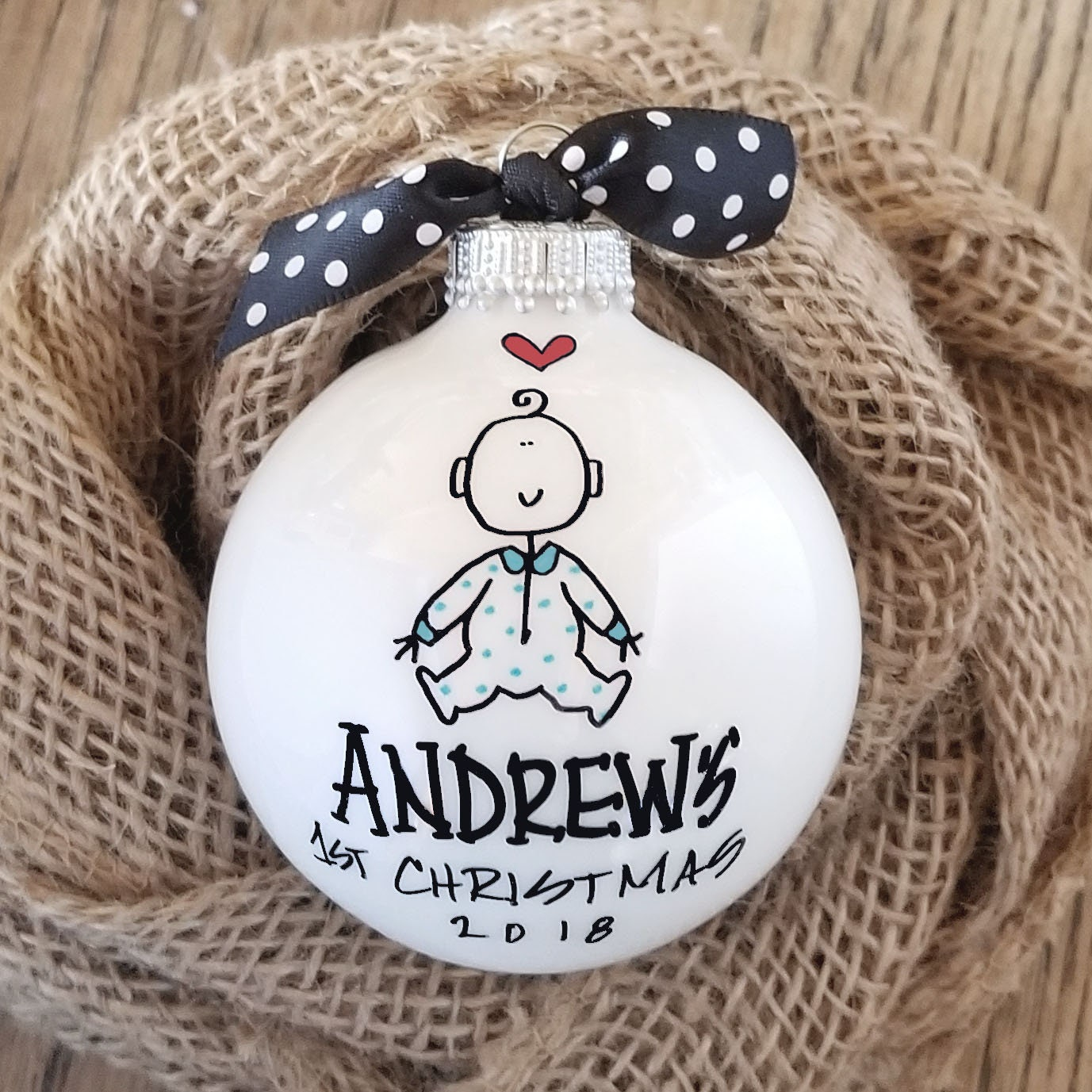 Baby Boy's 1st Christmas Ornament First Christmas | Etsy