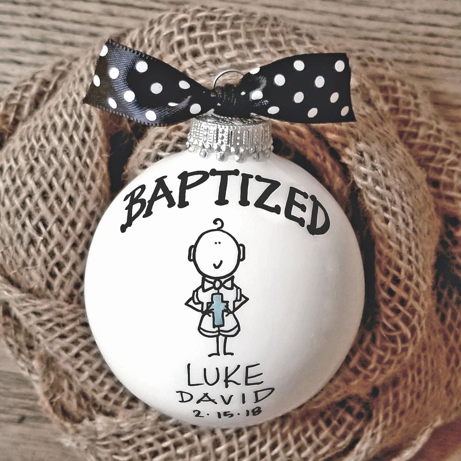 Baptism Ornament Cross Ornament Girl Baptism By: Baptism Ornament, Cross Ornament, Boy Baptism Ornament