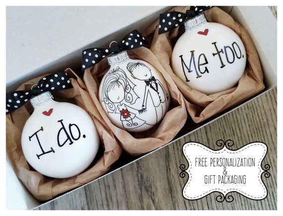 Wedding Gift Ornaments: Wedding Ornament Keepsake Wedding Gift Personalized Wedding