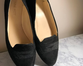 b38b68a24967 Nine West Black Velvet Ballet Flats - Size 7