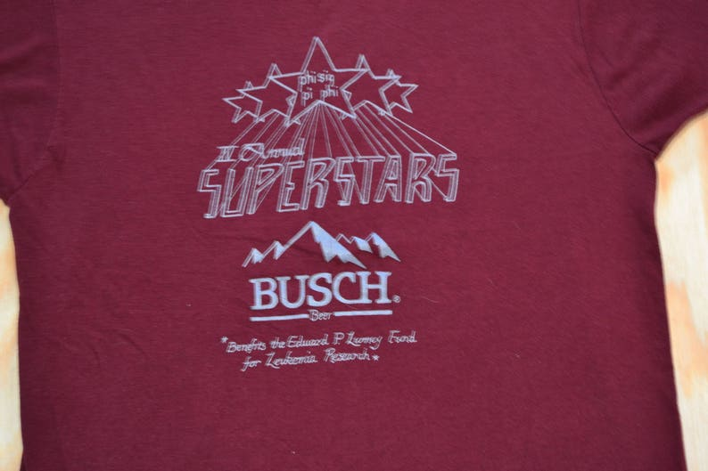 Way Funny Vintage 80's Busch Beer Fraternity T-Shirt