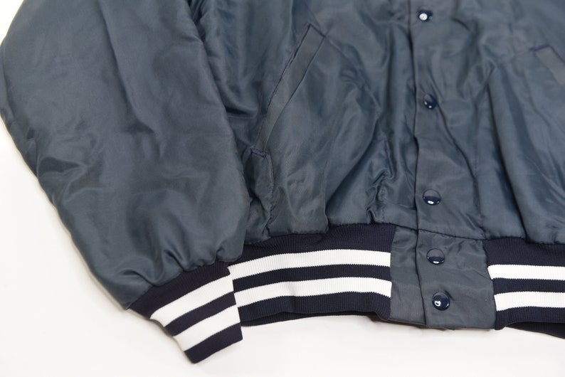 Super Awesome Vintage 80/'s Ed Youngs Hardware Williamsville NY Satin Bomber Jacket