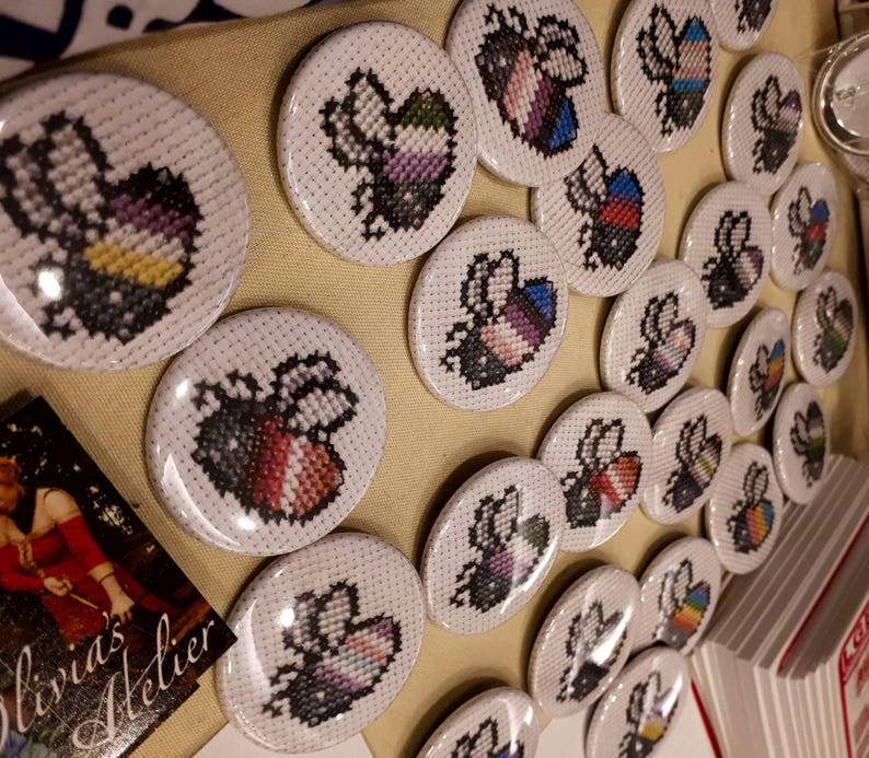 LGBT Bee Buttons image 0