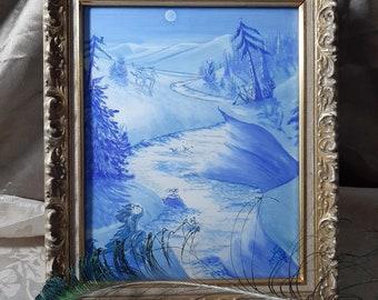 Moon River- Acrylic painting.