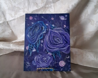 Universe and Roses Acrylice Painting