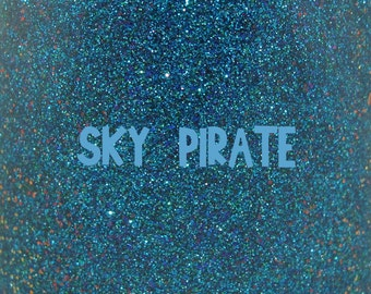 """Sky Pirate chameleon glitter nail polish 15 mL (.5 oz) from the """"A New Wind"""" Collection"""