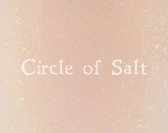 """Circle of Salt iridescent glitter and flake nail polish 15 mL (.5 oz) from the """"Just a Bunch of Hocus Pocus"""" Collection"""