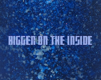 "Bigger on the Inside glitter nail polish 15 mL (.5 oz) from the ""Bigger on the Inside"" Collection"