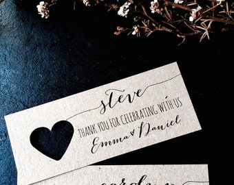Place Cards, Wedding Place Cards, Wedding Name Tags, Name Tags, Wedding Name Tag, Thank you for celebrating with us, Thank you