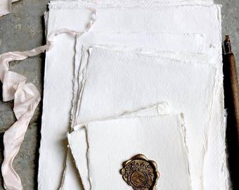 Handmade paper, Cotton rag Paper, Deckle Edge Paper, Deckled Edge Paper, Deckle Edge, Calligraphy Paper, Handmade Invitations