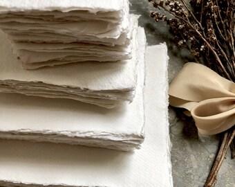 BLEMISHED Handmade paper, Handmade Paper, Cotton Rag Paper, Deckle Edge Paper, Deckled Edge Paper, Cotton Paper, Papier fait main, Handmade