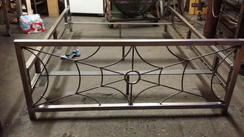 Iron Bed Queen Sizewrought Iron Bed Gothic Etsy