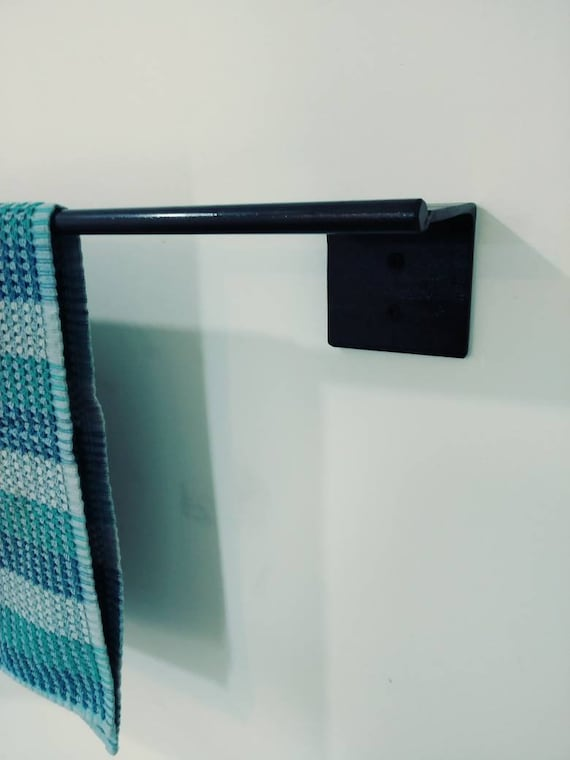 Modern towel rack Toilet Image Etsy Modern Towel Bar Towel Rack Kitchen Towel Holder Bath Etsy