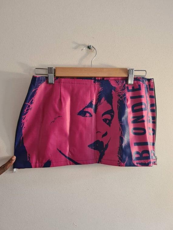 Debbie Harry punk rock fantasy micro mini skirt - image 1