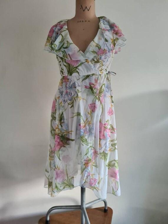 1980s Wrap Dress