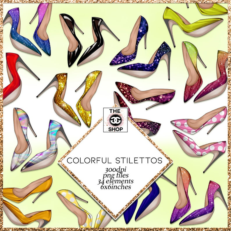 34 Stiletto Heels png clip art 34 elements 300 dpi png