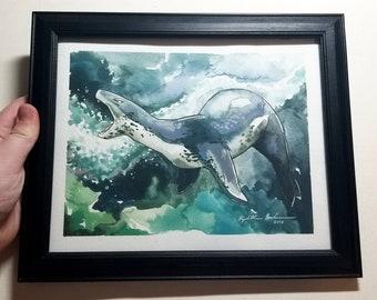 "Original Framed Painting ""Ensnaring Fangs"""
