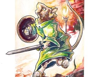 """Art Print """"Warrior of Redwall"""""""