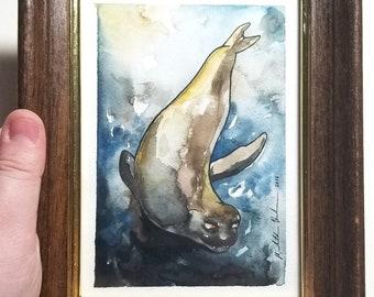 "Original Framed Painting ""Murky Depths"""