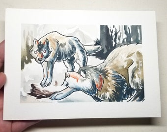 "Original Watercolor Painting ""Submission"""