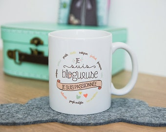 the Mug for bloggers, passionate, Cup for blogger, YouTuber gift blog