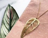 Gold Leaf Necklace - Simple Leaf Pendant - Gift For Her - Gold Pendant Necklace - Plant Jewellery - Leaf Jewellery