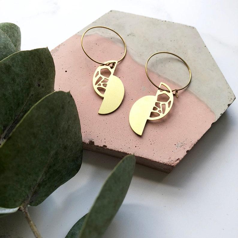 a58b1f1baf637 Gold Geometric Semi Circle Hoop Earrings