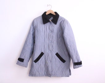 Quilted Silk 90s Barn Jacket