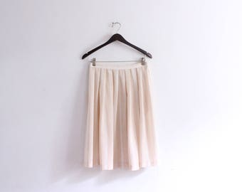 283f4bc07 Pale Pink Striped Midi Skirt