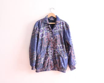 277c80f66b5a16 Gold Chain Print 90s Silk Blouse