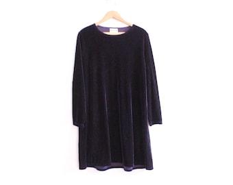 Dark Velvet 90s Mini Dress