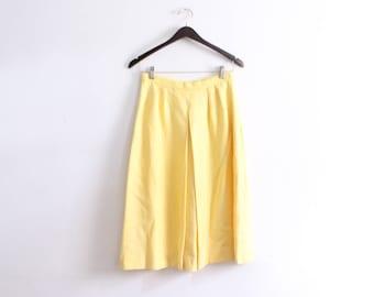 Sunny Yellow Pleated Midi Skirt