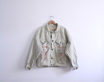 Pastel 90s Southwest Denim Jacket