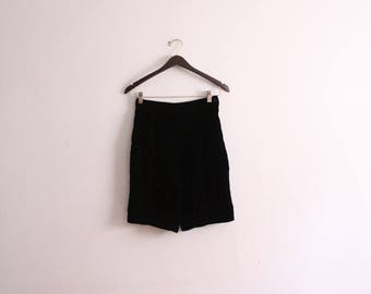 Luxe Black Velvet Shorts