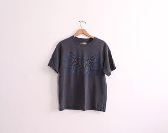 Tribal Pattern 90s T Shirt
