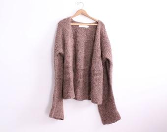 Oversized Sleeves Soft Cardigan Sweater