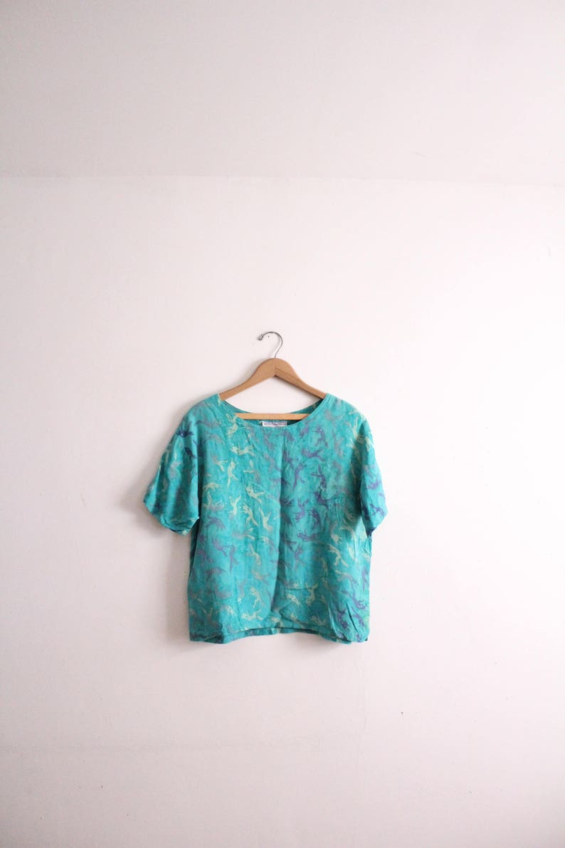 Abstract Batik 90s Blouse