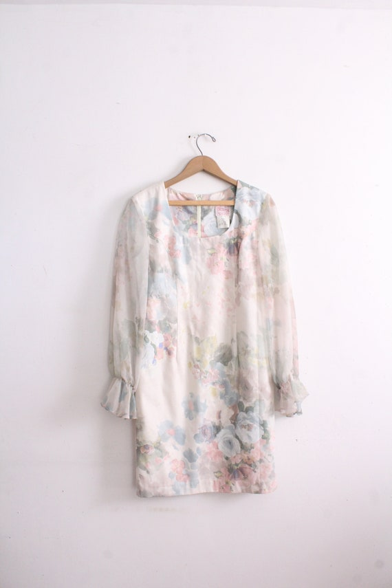 Floral Chiffon Sleeve Dreamy Mini Dress