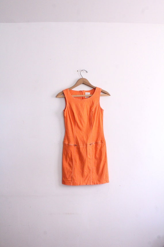 Orange Crush 90s Mini Dress